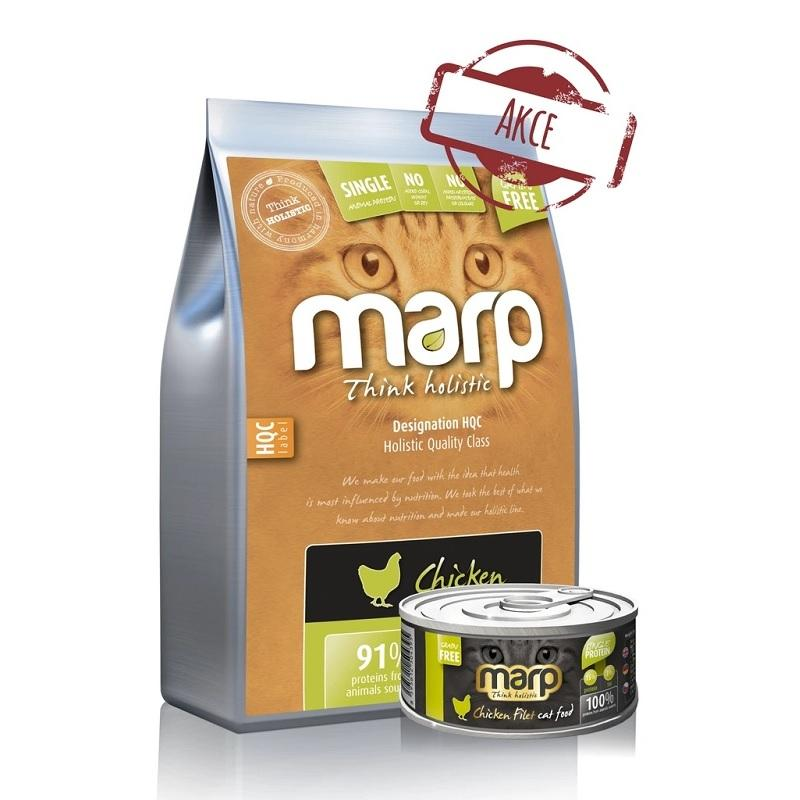 MARP Holistic Chicken Cat 2 kg + Marp Chicken filet ZDARMA