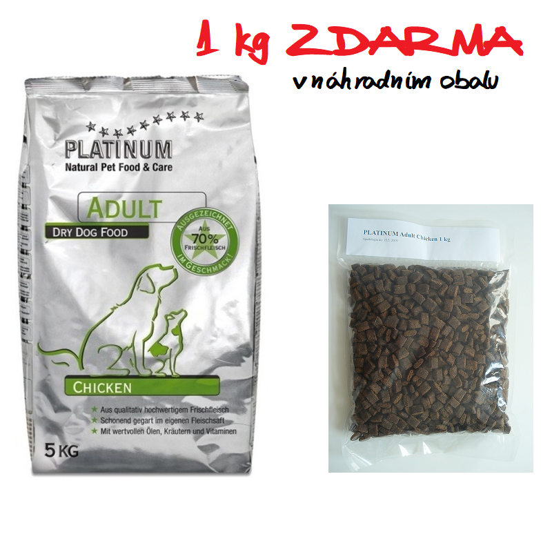 PLATINUM Adult Chicken 15 kg + 1 kg ZDARMA
