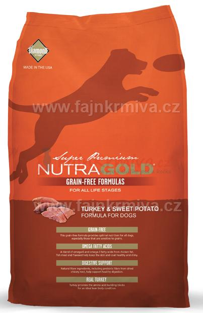NUTRA Gold Turkey & Sweet Potato Grain Free 2 x 13,6 kg