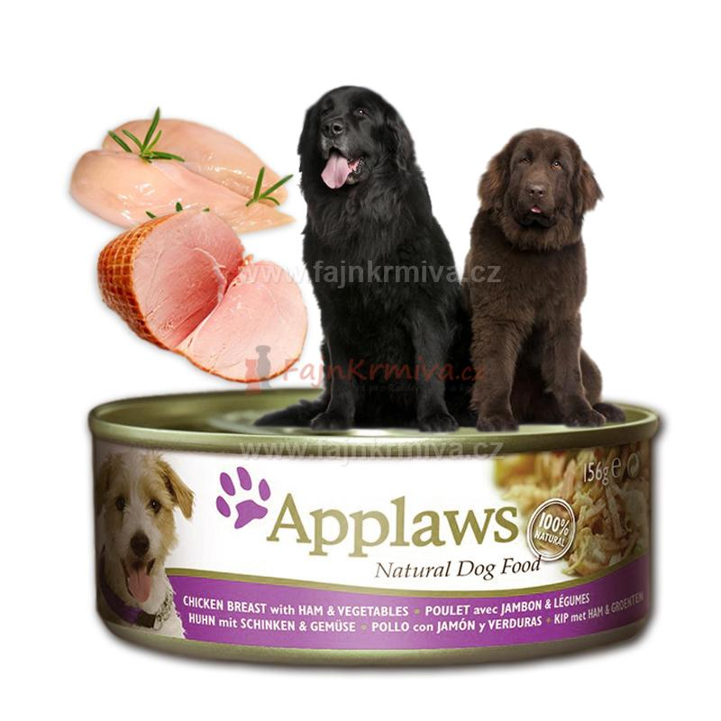 Applaws Dog - kuře, šunka a zelenina 156 g