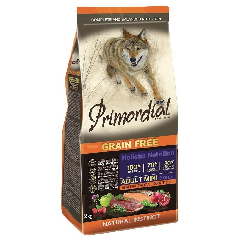 PRIMORDIAL Adult Mini Adult Trout & Duck 2 kg