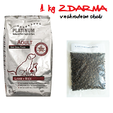 PLATINUM Adult Lamb and Rice 15 kg + 1 kg ZDARMA