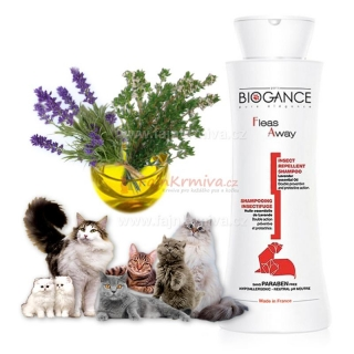 Biogance šampón Fleas away Cat antiparazitic 250 ml